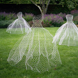 chicken wire ghost dress