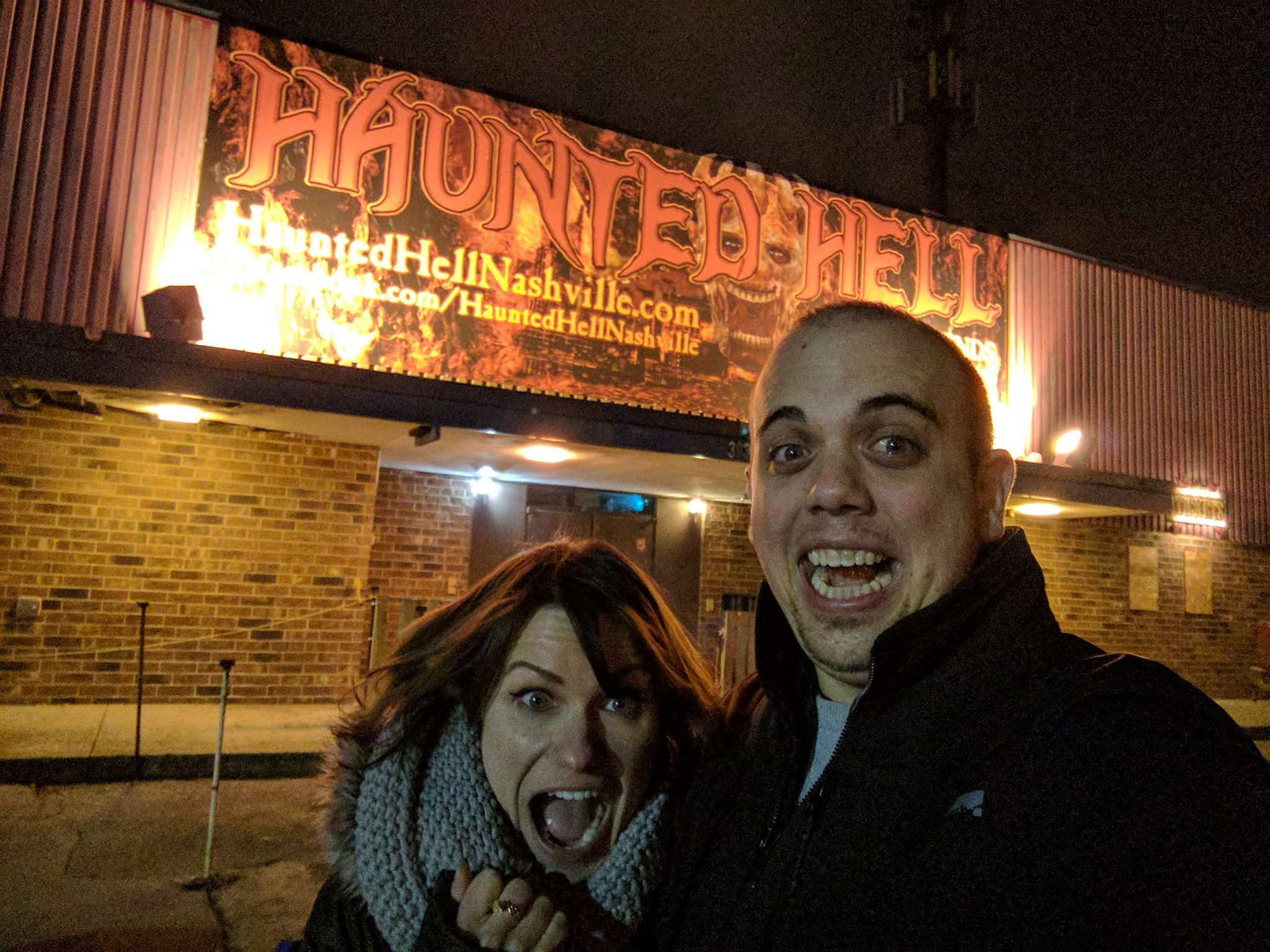 We survived our journey through Haunted Hell...just barely. Photo Credit: Alex Linebrink