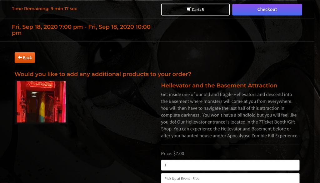 product upsell screenshot
