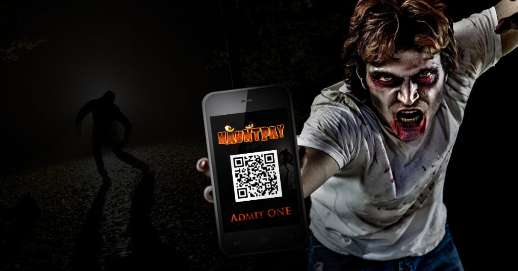zombie guy with phone hauntpay