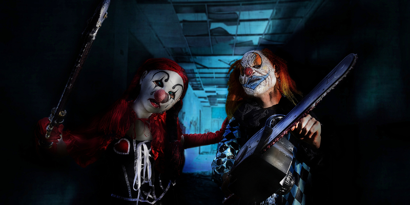 two scary clowns