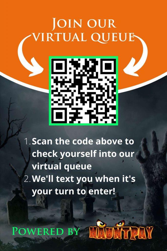 HauntPay Virtual Queues QR Poster